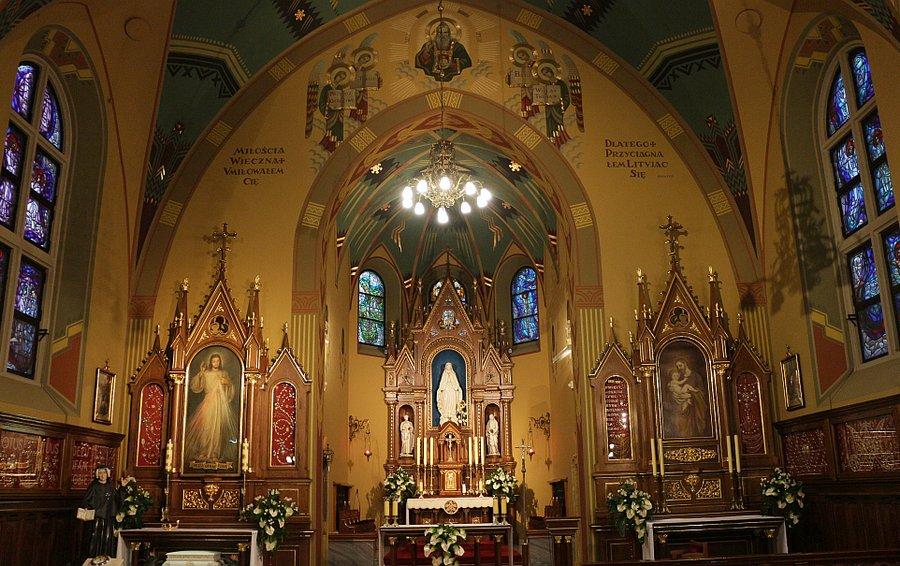 Kaplica z łaskami słynącym obrazem Jezusa Miłosiernego i grobem św. Faustyny w Sanktuarium w Krakowie-Łagiewnikach
