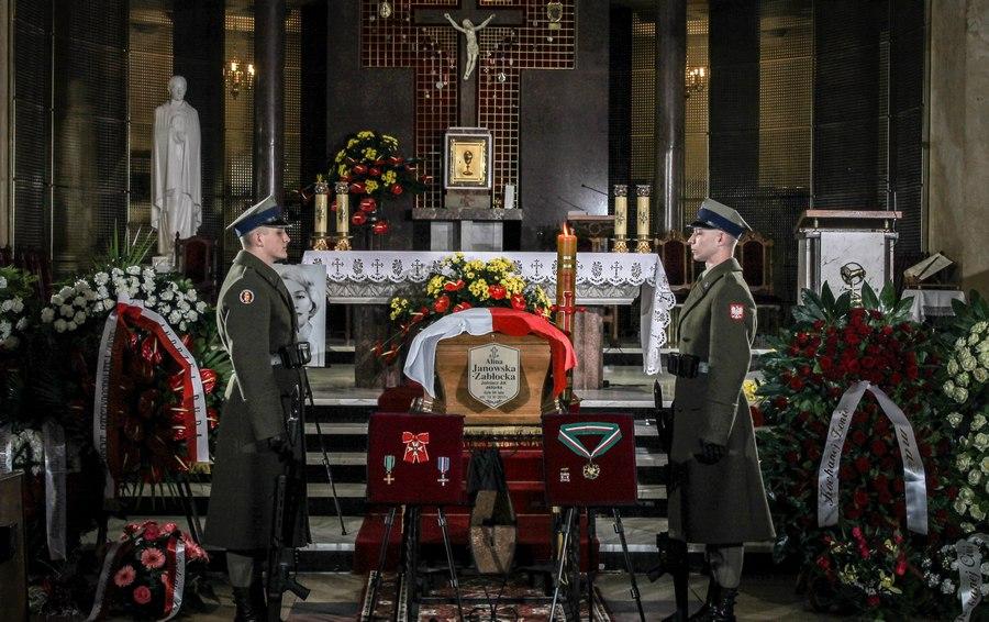 Pogrzeb Aliny Janowskiej