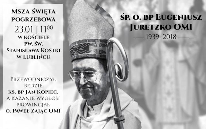 Uroczystości pogrzebowe śp. bp. Eugeniusza Juretzko OMI w Lublińcu - 23 stycznia 2018