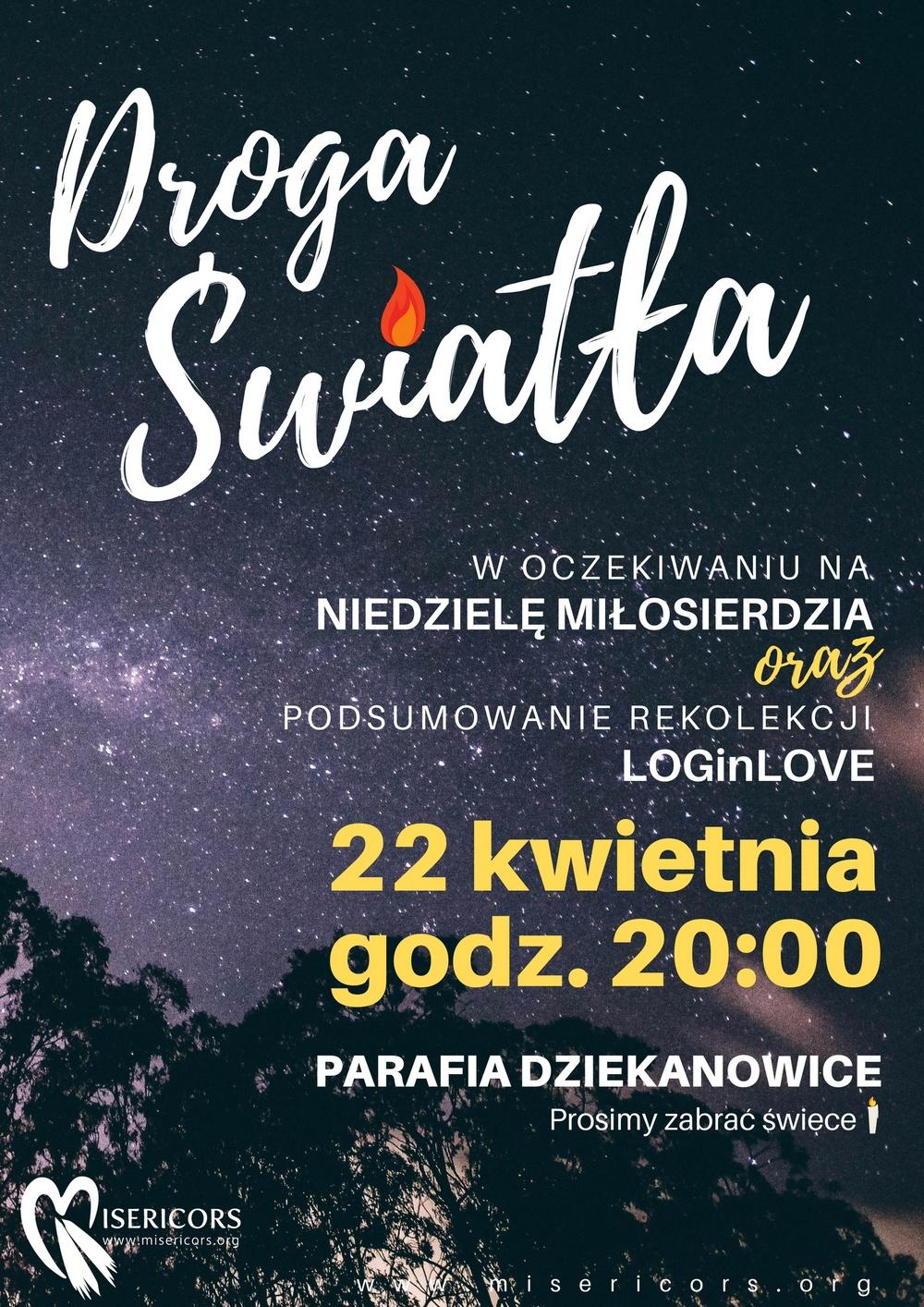 Droga Światła w Sanktuarium Macierzyńska NMP w Dziekanowicach
