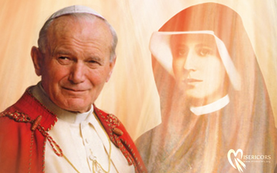 Św. Jan Paweł II i św. Faustyna Kowalska