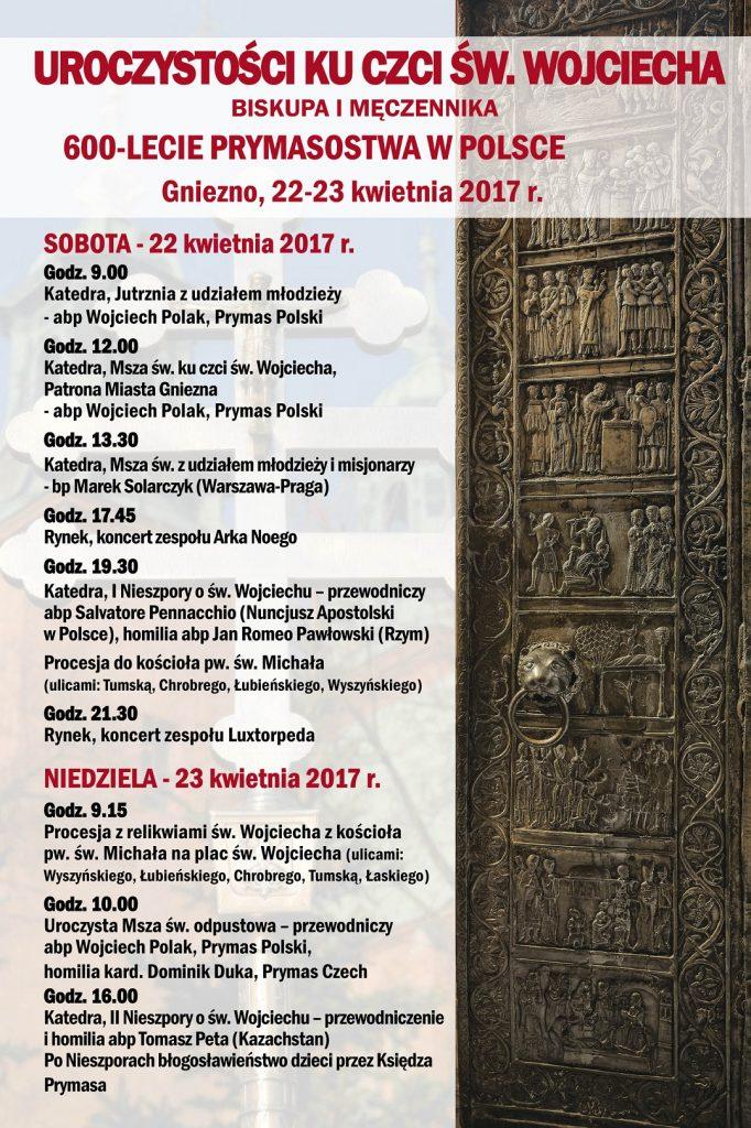 Program obchodów 600-lecia prymasostwa w Polsce