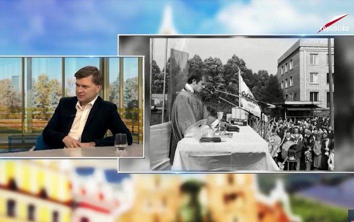 """Grzegorz Górny o książce """"Zło dobrem zwyciężył. Święty Jerzy XX wieku"""" w Telewizji Republika"""