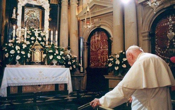 Św. Jan Paweł II w Sanktuarium w Kalwarii Zebrzydowskiej – 19 sierpnia 2002