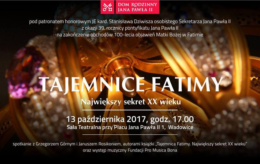 Tajemnice Fatimy - spotkanie w Wadowicach