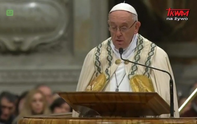 Pierwsze Nieszpory Uroczystości Bożej Rodzicielki Maryi - Słowo papieża Franciszka - 31 grudnia 2017